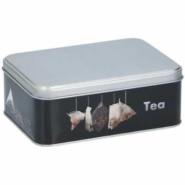 1x metalen thee voorraadblik/voorraadbus 1700 ml