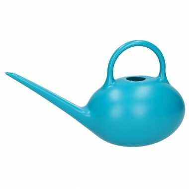 Blauwe theepot gieter 1 liter