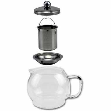 Glazen koffiepot / theekan / theepot met filter 1,2 liter