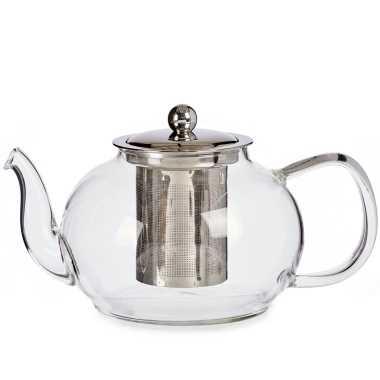 Glazen theepot 1100 ml met filter/infuser en handvat