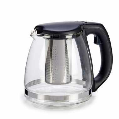 Glazen theepot 1200 ml met filter/infuser en handvat