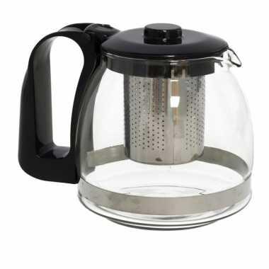 Glazen theepot 1250 ml met filter/infuser en handvat