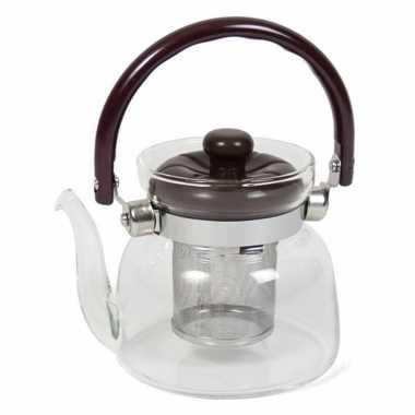 Glazen theepot 800 ml met filter/infuser en handvat