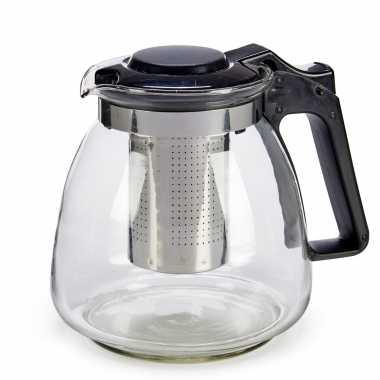 Glazen theepot 900 ml met filter/infuser en handvat