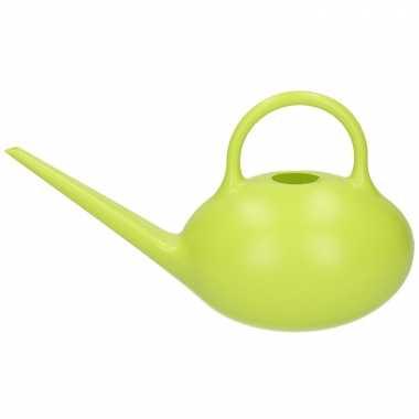 Groene gieter theepot model 1 liter