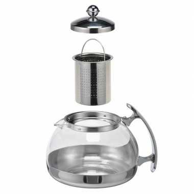 Koffiepot / theekan / theepot met filter 1,2 liter