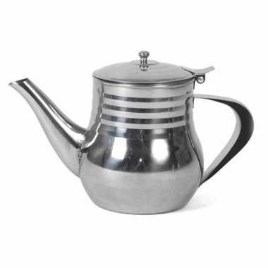 Marokkaanse theepot rvs 0,5 liter