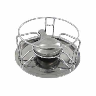 Rechaud warmhouder/warmhoudplaatje chroom voor theepotten/pannen