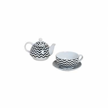 Theepot set retro zigzag